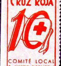 Segell d´impost de guerra a benefici de la Creu Roja local