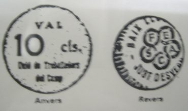 Monedes de cartó de l'Unió de Sindicats del Camp