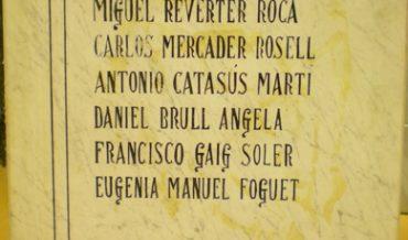 """Placa commemorativa de """"Los Caídos"""""""