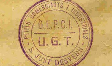 Marca de segell de goma: Petits Comerciants i Industrials