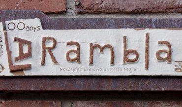 Plafó ceràmic del Centenari de la Rambla 1914-2014