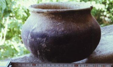 Olla de ceràmica grollera reduïda