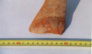 Fragment de ceràmica de l'habitació romana