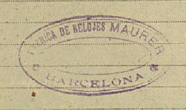 Senyal de segell de goma de Rellotges Maurer
