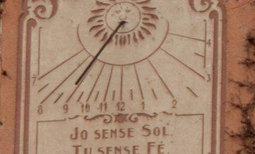 Rellotge de sol del carrer Font nº 12