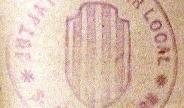 """Marca de segell de goma """"Jutjat popular local S. Just Desvern"""""""