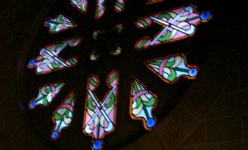 Vitrall entrada capella de can Ginestar