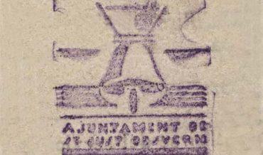 Marca de segell de goma del Ajuntament republicà
