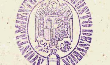 Senyal de segell de goma de l'Ajuntament franquista