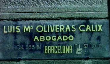 Placa advocat Oliveras Calix
